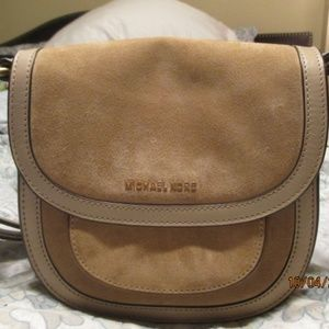 Michael Kors Suede and Leather Crossbody